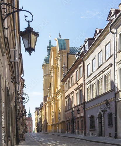 Obraz na Plexi Warsaw, Old Town, Piwna street, St. Marcin church