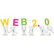 Geschäftsleute, Buchstaben, WEB 2.0