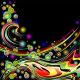Girlande Colori Sfondo Astratto-Abstract Colors Swirls-Vector