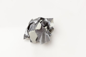 Crumpled Silver duct tape