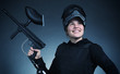 Female Paintball Player