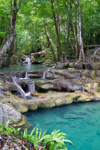 Erawan Waterfall in Thailand © bomboman