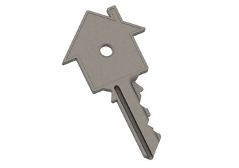 Steel house-shape key
