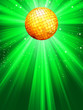 Sparkling green disco ball. EPS 8