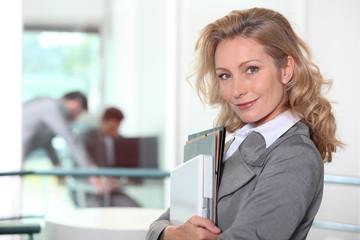 Businesswoman walking to her meeting