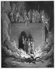 Shadrach, Meshach, and Abednego in the Fiery Furnace