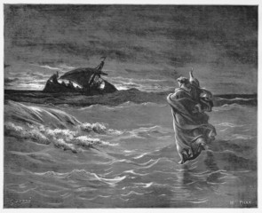 Jesus walks on the sea