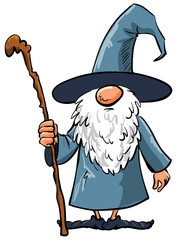 Simple Cartoon Wizard with staff
