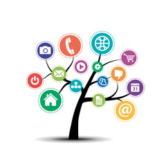 Social Media Tree# Vector