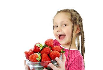 Strawberries girl