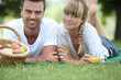 Couple's Sunday picnic - 42041895