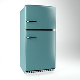 Retro fridge side view