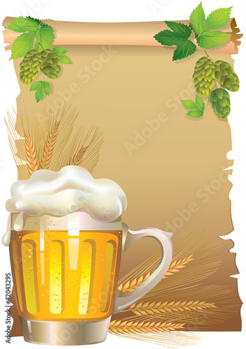 Retro beer background