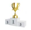 gold trophy cup pedestal