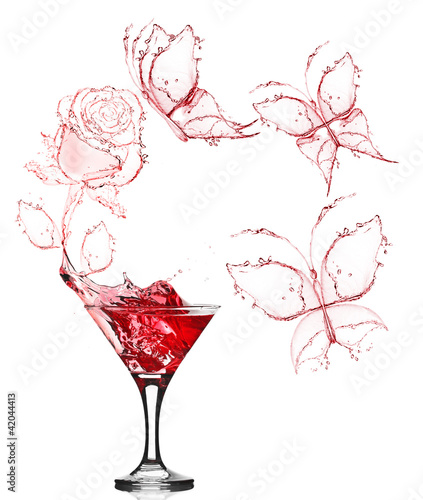 red rose splash from martini