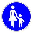 Sonderweg für Fußgänger – RGB-Blau