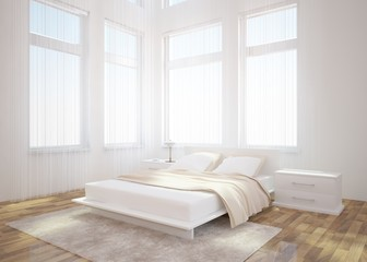 white bedroom design in the home