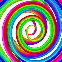 Art colorful rainbow glossy twirl