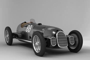 Antique Racing Car Black
