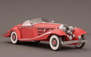 Classic Elegant Red Car