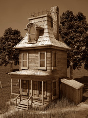 Old Cartoonish House 2
