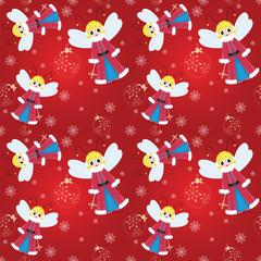seamless pattern christmas fairy