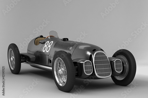 Antique Racing Car Black