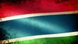 Gambia Flag Waving, grunge look