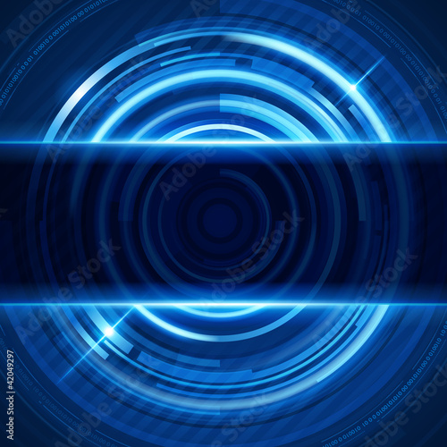 Abstract 3d digital circles light vector background eps 10