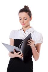 Standing businesswoman