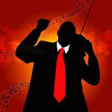 Nostalgia retro melody.Musical background poster