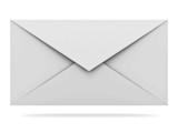 Mail envelope isolated on white background