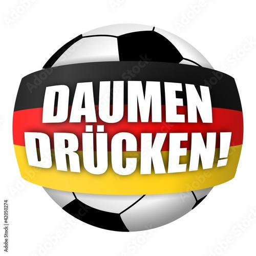 """""""fussball deutschland rund daumen drücken i"""" stockfotos"""