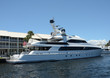 Luxury yacht in port