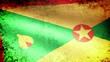 Grenada Flag Waving, grunge look