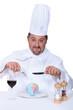 chef having meal in restaurant
