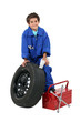 A young mechanic