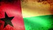 Guinea-Bissau Flag Waving, grunge look
