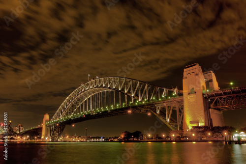 Sydney, Harbour Bridge with Clouds