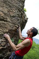 free climbing su granito