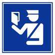 Señal aeropuerto control de pasaportes
