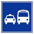 Señal aeropuerto simbolo transporte publico