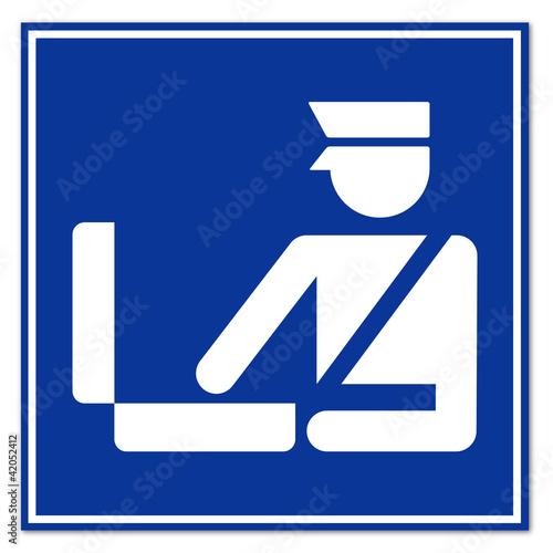 Señal aeropuerto simbolo aduana