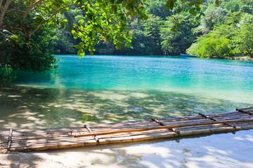 Jamaica. A Blue lagoon.