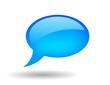 Vector glossy speech bubble