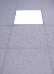 acoustic ceiling with light