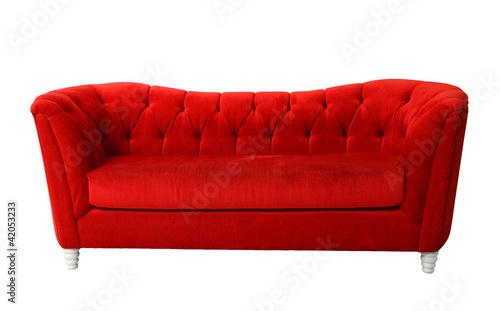 Leinwandbild Motiv Red furniture isolated