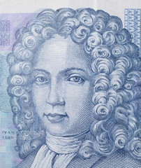 Croatian Ivan Gundulić - as seen on the 50 Kuna banknote