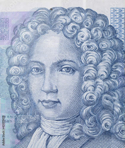 Croatian Ivan Gundulić - as seen on the 50 Kuna banknote