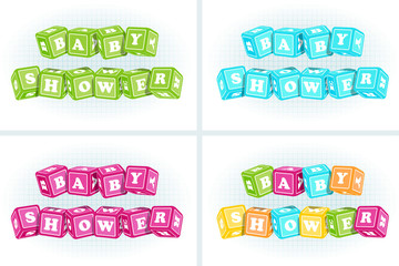 baby shower: color cubes